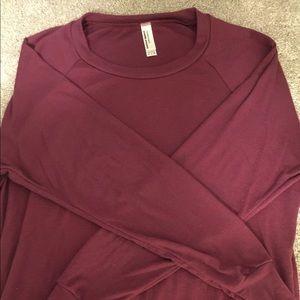 American Apparel 3/4 sleeve slouchy top